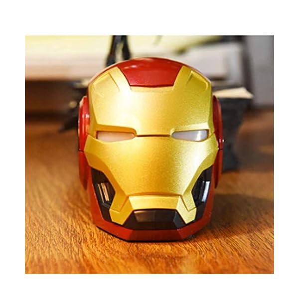 Mini Haut Parleurmini Iron Man Haut-Parleur sans Fil Puissant Enceintes Portables Ordinateur Cadeau Novateur Pratique Radio Musique 3