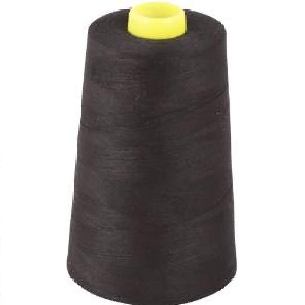 Black Overlocking Sewing Machine Polyester Thread Four 5000 Yards Cones Superstitch/Cometa 5000 yds