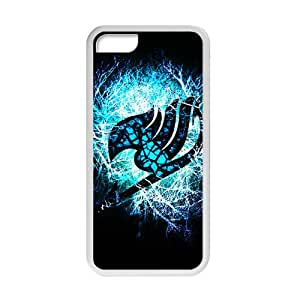 Blue Fairy Tail Guild Pattern for iPhone 5C Case,Shock Absorbing and Scratch Resistant Cell Phone Case with Lightweigh and Durable Material