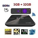 [Pure Version Android 7.1 OS Android BOX] Yongf R-TV BOX S10 Wifi TV BOX,Amlogic S912 Octa Cora 3GB RAM 32GB ROM Smart TV BOX for 4K HD TV Bluetooth 4.1