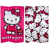 Best HELLO KITTY Room Dividers - Oriental Furniture 6-Feet Tall Double Sided Hello Kitty Review