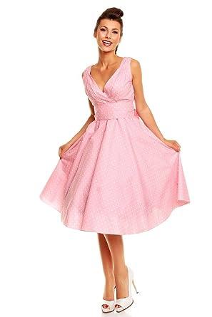 New Ladies Polka Dot 50s Rockabilly Retro Vintage Summer Swing Party Dress Size 10 - 22