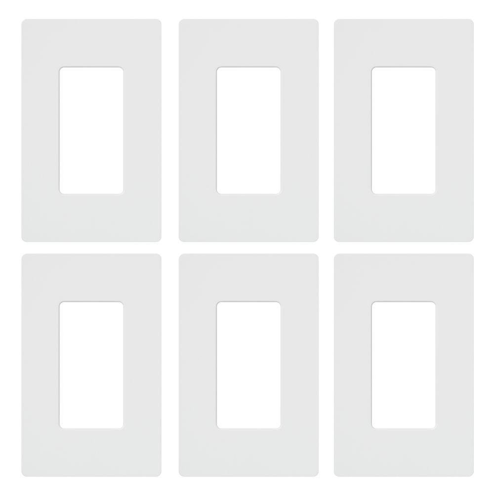 Lutron CW-1-WH Claro Maestro Cw Rectangular Screw less Seamless Wall Plate, Pack of 6 by Lutron