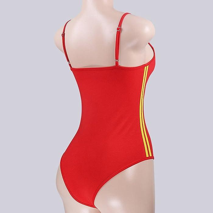 c2ae0f49 LUOEM Women Ladies Ribbed Scoop-Neck Bodysuit Snap Crotch Be Cool ...