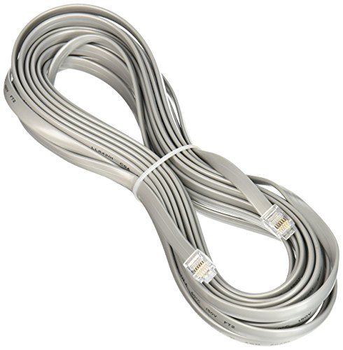 C2G 08133 25ft RJ12 Modular Telephone Cable - Silver - New - Retail - 08133