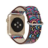 Chinese Style Apple Watch Leather Band Watch Strap Wristband for Apple iWatch 1 2 Sports&Edition