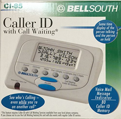 Telephone Bell South - Bellsouth Ci-85 Caller Id with Call Waiting