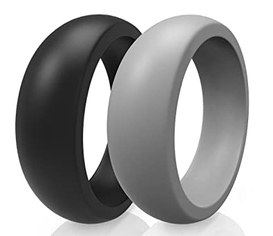 Amazon Com Premium Men Silicone Wedding Ring Wedding Band 2