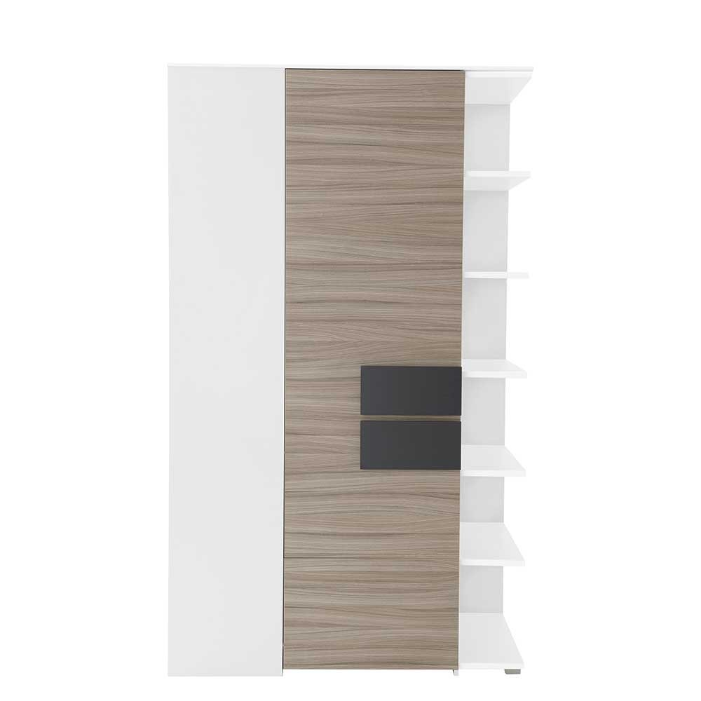 Pharao24 Design Schrank für Ecke mit Regal