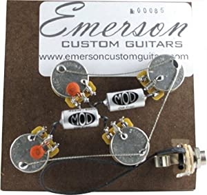 510ivxSSfkL._SX300_ amazon com emerson custom guitars prewired assembly, vintage les emerson les paul wiring harness at eliteediting.co