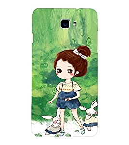 EPICCASE Gorgeous Girl and Rabbit Mobile Back Case Cover For LeEco Letv Le 2 (Designer Case)