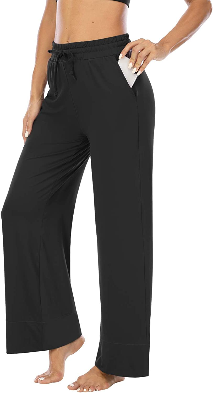 ZJCT Womens Yoga Sweatpants Comfy Loose Casual Wide Leg Lounge Joggers Pants with Pockets