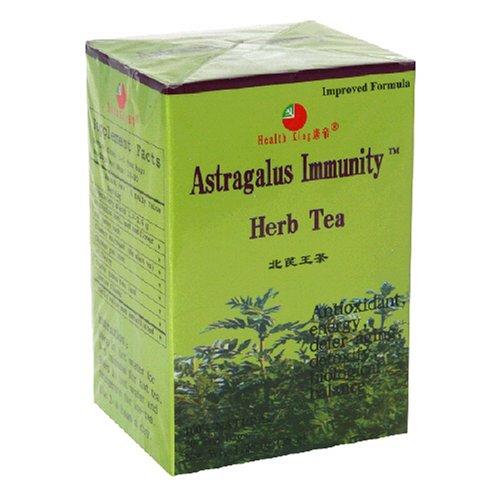 Santé roi Astragalus Herb Tea immunité, sachets de thé, 20-Count Box (Pack de 4)
