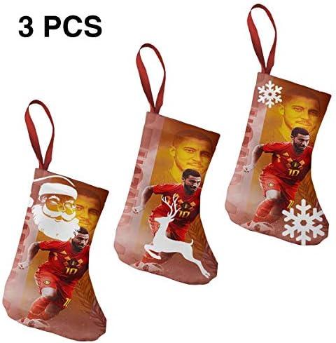 クリスマスの日の靴下 (ソックス3個)クリスマスデコレーションソックス Eden Hazard クリスマス、ハロウィン 家庭用、ショッピングモール用、お祝いの雰囲気を加える 人気を高める、販売、プロモーション、年次式