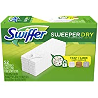 52-Ct Swiffer Sweeper Dry Sweeping Pad, Multi Surface Refills for Dusters Floor Mop (Unscented)