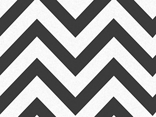 Black Wide Chevron Stripe 240~20''x30'' Sheets Recycled (240 Sheets) - WRAPS-P1346 by Miller Supply, Inc.