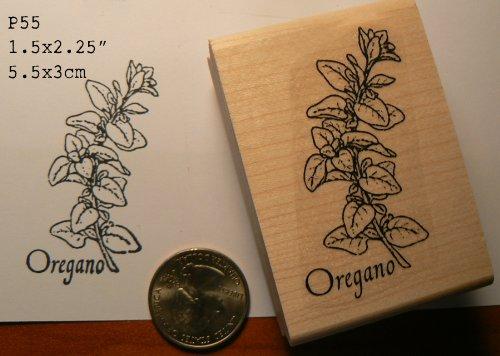 Oregano herb rubber stamp WM P55 (Basil Stamp)