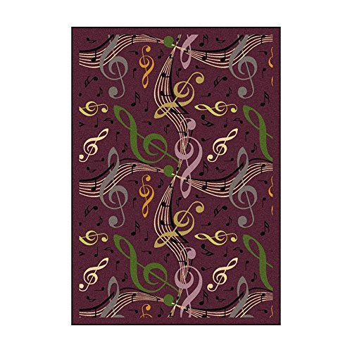 Joy Carpets Kid Essentials Music & Special Needs Virtuoso Rug Plum 7'8 x 10'9 [並行輸入品]   B07HLHN95P