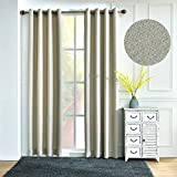 Best Home Back Tab Curtains - Teeter-Totter Faux Linen Blackout Thermal Insulated Curtain Panel Review