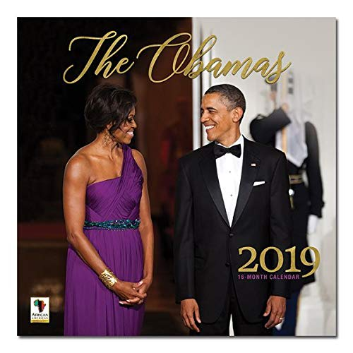 "Office Products : African American Expressions - 2019 The Obamas 12 Month Calendar (12"" x 12"") WC-174"
