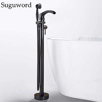 SUGU - Grifo para bañera con alcachofa de mano, color negro ...