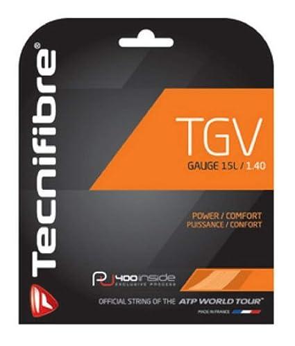 Tecnifibre TGC Cordaje Tenis Set 12m 1.40mm Negro