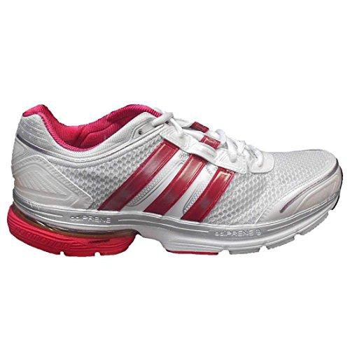Adidas Womens Astar Solution 2 Scarpe Da Corsa In Esecuzione Bianco / Argento Metallizzato / Rosa Shocking