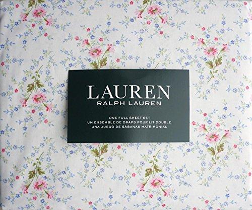 Ralph Lauren Pink Blue Green Country Cottage Floral Sheet Set Full - New Ralph Lauren Sheet