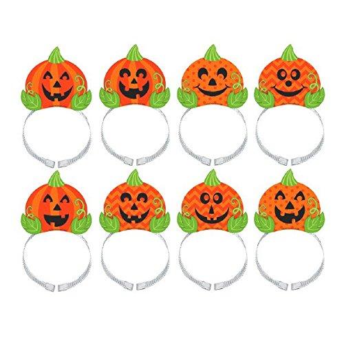 Halloween Jack-o'-Lantern Headbands -