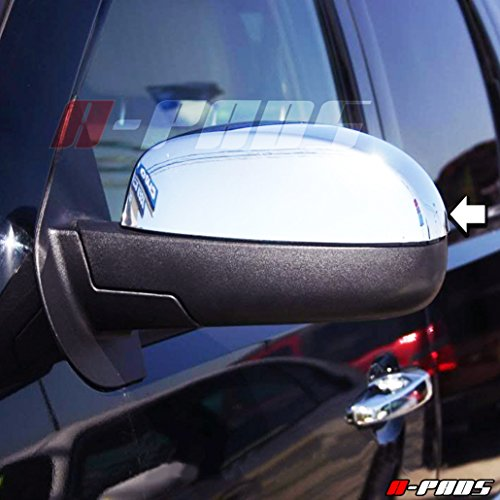 A-PADS 2 Chrome Top Mirror Covers for GMC SIERRA, DENALI, YUKON 07-2013/Chevy SUBURBAN 07-2014 SILVERADO 2007-2013 TAHOE 07-14 + MORE MODELS!