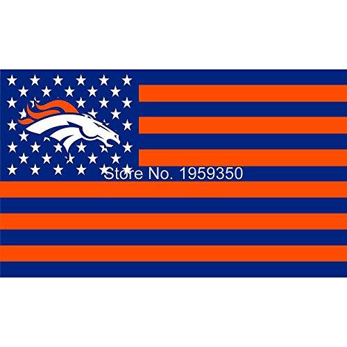 NFL Denver Broncos Stars and Stripes Flag Banner - 3X5 FT