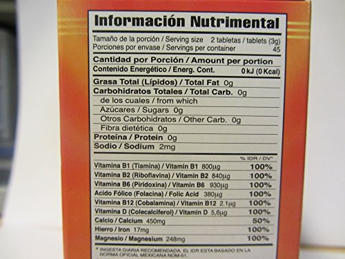 Amazon.com: Iron and Vitamins 60 Tablets. Hierro y Vitaminas, Dietary Supplement: Health & Personal Care
