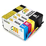 CMCMCM Remanufactured Ink Cartridges for HP 902XL 902 XL Work for OfficeJet Pro 6978 6962 6968 6960 6970 6954 6958 6975 6950 6951 6979 Printer (Black, Cyan, Yellow, Magenta)