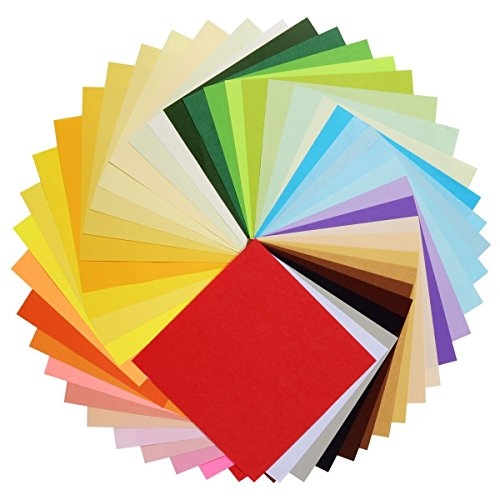 MAGICMAI Origami Paper Double Sided Colored Paper 6 inch Square Size for Arts and Crafts Projects 50 Vivid Colors 200 Sheets