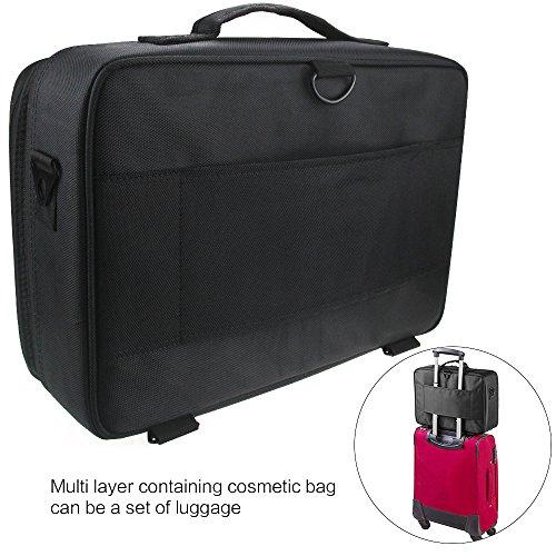 Professional Makeup Train Case Cosmetic Bag Brush Organizer and Storage  Travel Make Up Artist Box 3 927f59b375b55