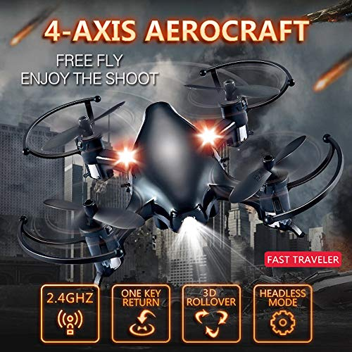 Fullfun 4-AIXIS Aerocraft S108 Mini Drone RC Drone Helicopter Airplane Quadcopters Headless Mode One Key Return