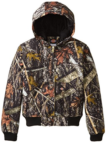 Dickies Big Boys' Sanded Duck Hooded Jacket, Camo New Conceal, Large (14-16)