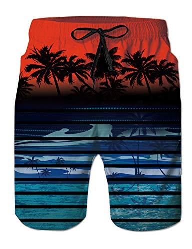 SaleProductsOffer - No.1 Best Online Store 510izJUBwjL ALISISTER Mens 3D Swim Trunks Quick Dry Summer Underwear Surf Beach Shorts Elastic Waist with Pocket Drawstring