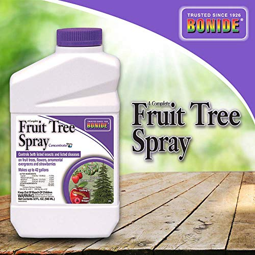 Bonide (BND203) - Fruit Tree Spray Concentrate (32 oz.) (Best Pear Trees For Deer)