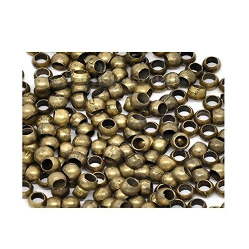 Crimp beads & tubes 800pcs 1.2mm 1.5mm 2mm 2.5mm 3mm 4mm 5mm silver gold bronze copper gunmetal (2mm(2mm) antique bronze - 800pcs)
