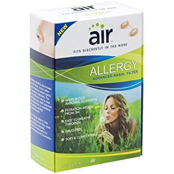 Amazon Com Air Allergy Advanced 3m Nasal Filter 12 Count