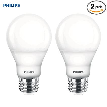 release date 627e0 afd31 Philips LED Dimmable A19 Soft White Light Bulb with Warm Glow Effect:  800-Lumen, 2700-2200-Kelvin, 6.5-Watt (60-Watt Equivalent), E26 Base,  Frosted, ...