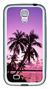 California Beach Palm Tree Theme Samsung Galaxy S4 i9500 Case pc hard Material