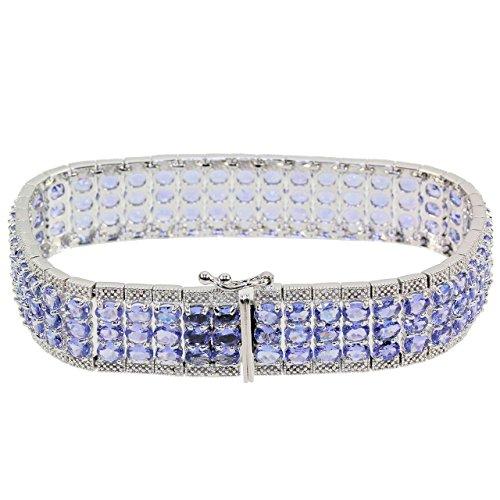 Vorschaubild Harry Ivens Armband Damenarmband Sterlingsilber 925 rhodiniert Tansanit