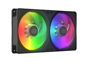 Cooler Master MasterFan SF240R ARGB 240mm All-in-One Square Frame Fan w/16 Independently-Controlled Addressable RGB LEDs, Cable Management, PWM Control Fan for Computer Case and CPU Liquid Cooler
