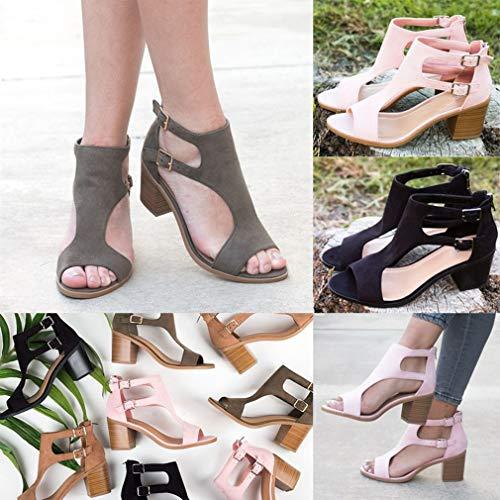 Dames Poisson Respirant 34 43 Jardin Juleya Gladiator Noir Femmes Haut Ouvert Dos Plage Sandale Bout Zip Moyen Été Talon Sandales Adulte Chaussures nR8TPqZ