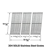 Replacement Stainless Steel Cooking Grid for Members Mark, Patio Range, Sams, Kenmore and Kirkland Gas Grill Models, Set of 3