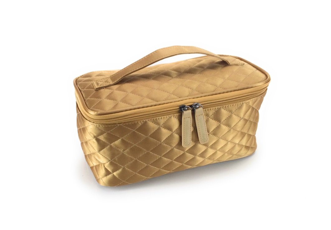 Cosmetic Bag by Models-on-the-Go Large Size - Gold