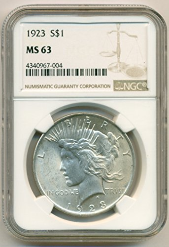 1923 Peace Silver Dollar MS63 NGC