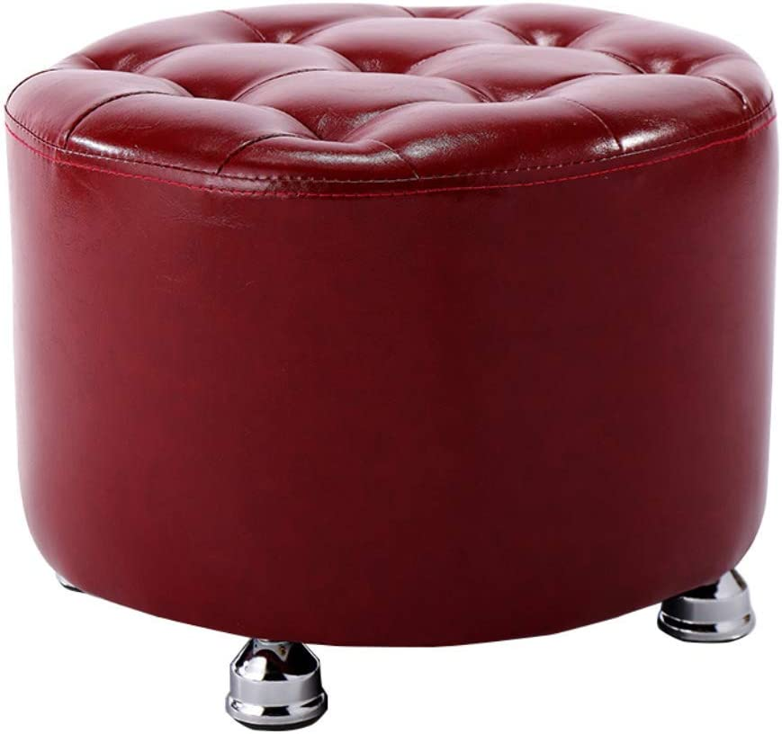 Amazon.com: QQXX Footstool Solid Wood Leather Sofa Dressing ...